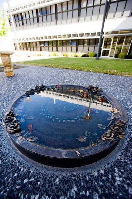 Memorial area outside the school of rural medicine