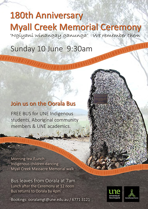 Oorala Bus to Myall Creek event poster