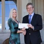 Scholarship winner Nicolette Hilton and Premier Barry O'Farrell