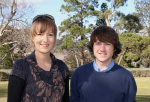 UNE students Jessica Lewis and Bryce Clarke