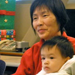 Asian woman and child