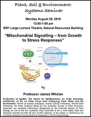 James Whelan seminar poster