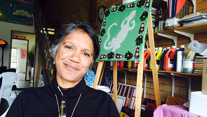 Ronella 'Dolly' Jerome in her studio