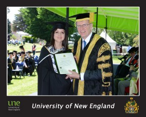 Stephanie Shing-Kelly receives her Bachelor of Historical Inquiry and Practice in 2014 from then Chancellor, the Honourable John Watkins