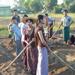 Photo 2  YAU students cultivating fields (2)