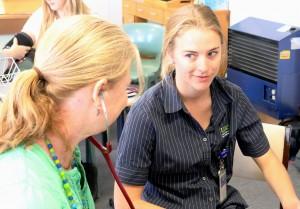 Sally Bristow (left) and Olivia Linke