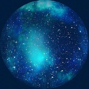 Image of a blue universe - representation of quantum physics