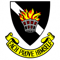 "Earle Page College crest, with motto ""Each Prove Himself"""
