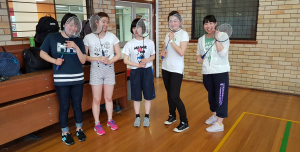 Kitasato students at Sport UNE