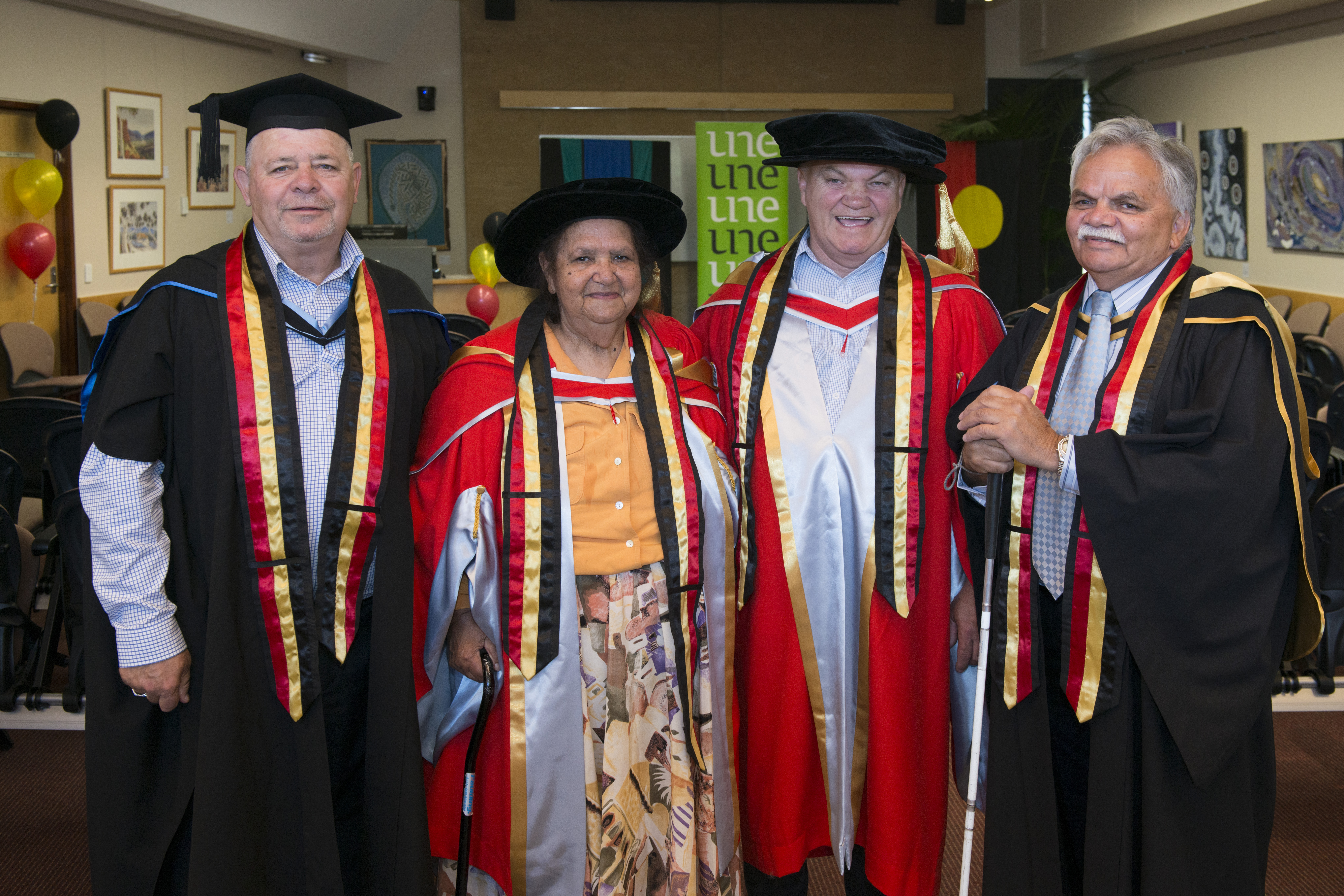 Oorala representatives in academic robes