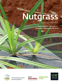 Nutgrass integrated weed management guide brochure cover page