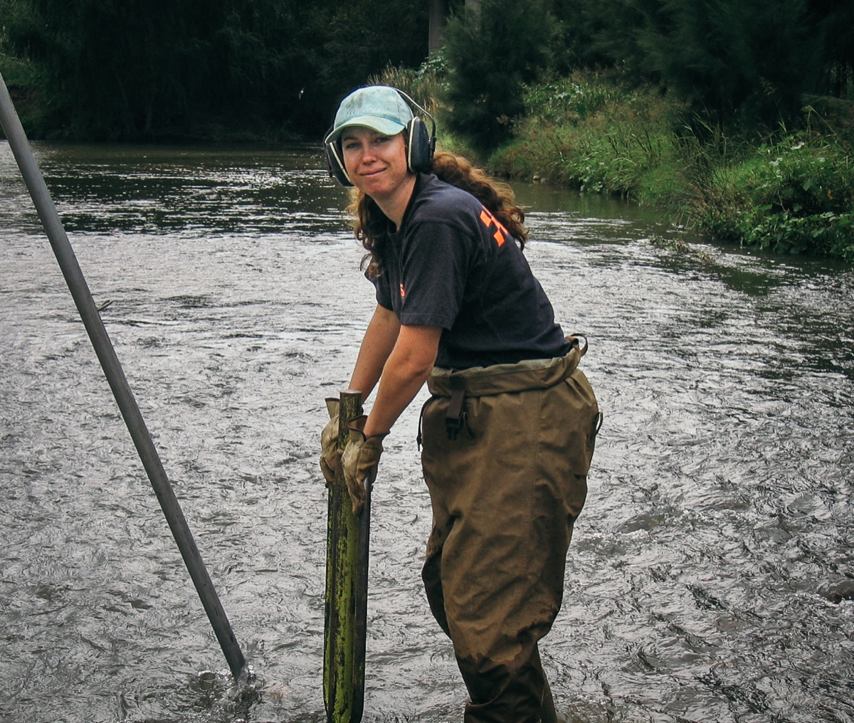 UNE freshwater ecologist Sarah Mika