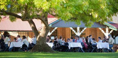 Alfresco dining at Booloominbah