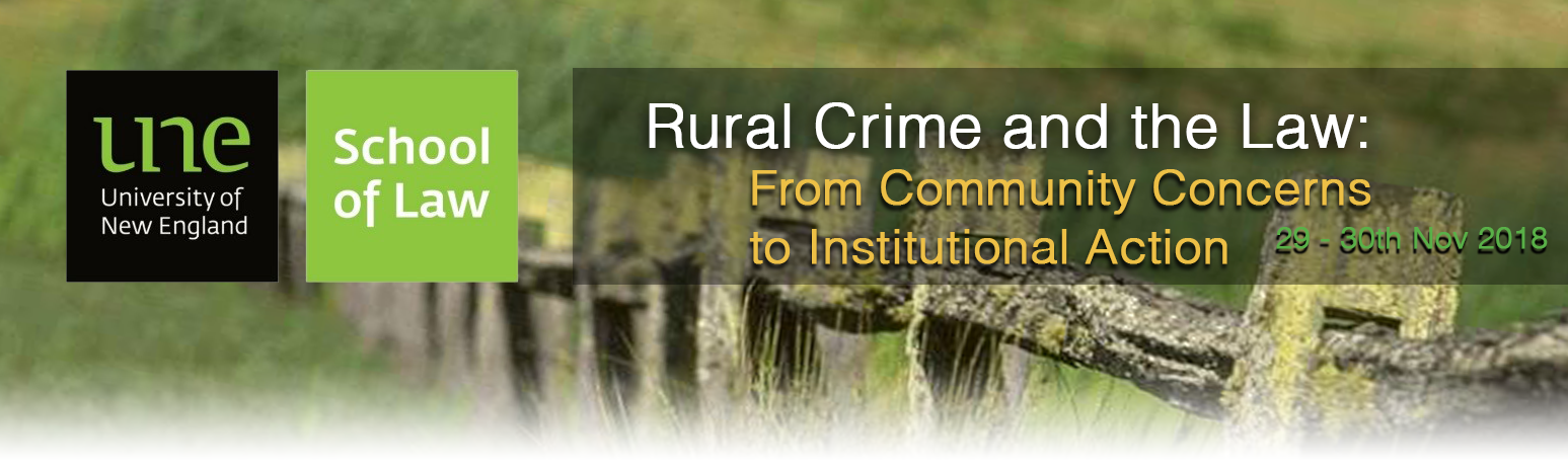 Rural Crime and the Law conference banner