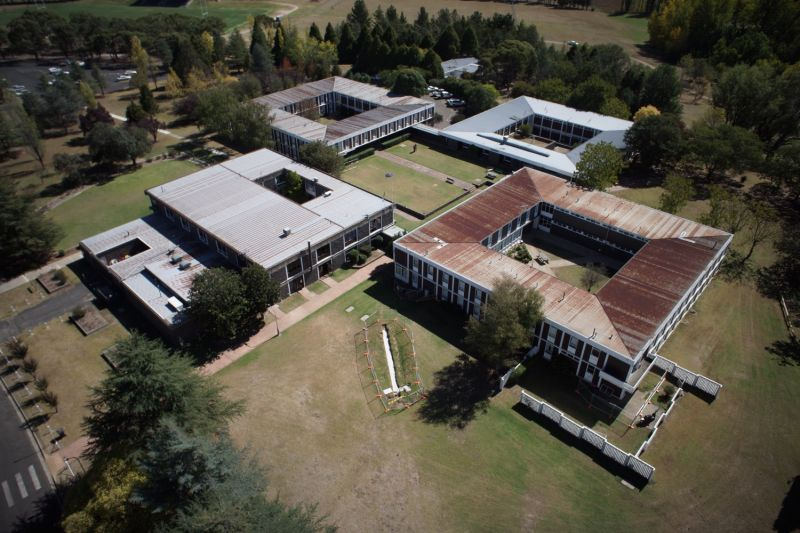 Robb College buildings from the air