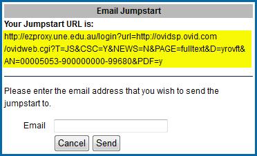 email jumpstart window