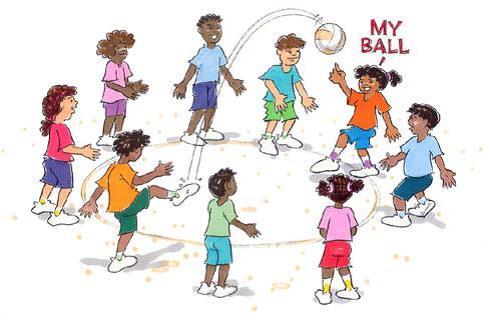 Kids playing woggabiliri game