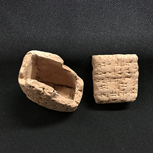 Miniature clay tablet and envelope