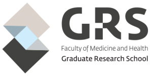 Faculty of Medicine and Health Graduate Research School Logo