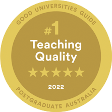 #1 in Australia Postgraduate Teaching Quality