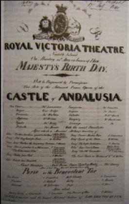 Norfolk Island playbill, 25 May 1840