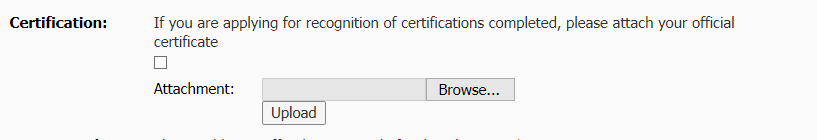 Uploading a certificate