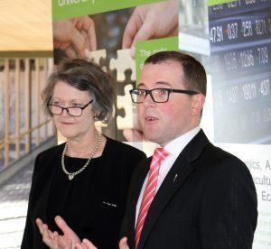 Prof Sue Thomas and Adam Marshall MP