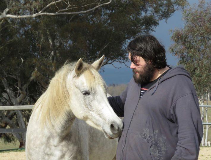 person horse