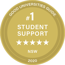 Awarded five stars for student support by 2018 Good Universities Guide