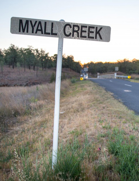 Myall Creek road sign