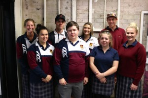 Isobel Robinson, Hollie Sampson, Miles Kearney, Aaron Bender, Montanna Allan, Emily Simmonds, Daniel Rea and Kathlin Shaw from Quirindi High School.