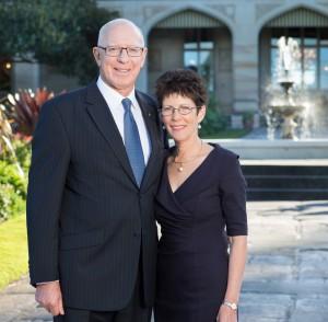 The Governor and Mrs Linda Hurley