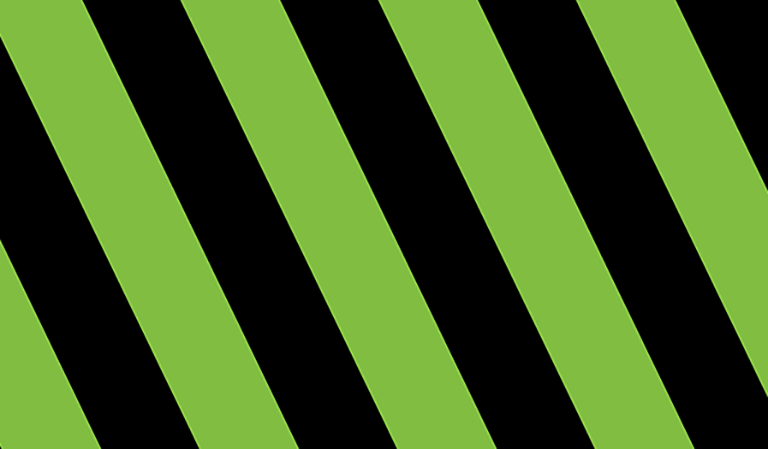 Green and black angled stripes
