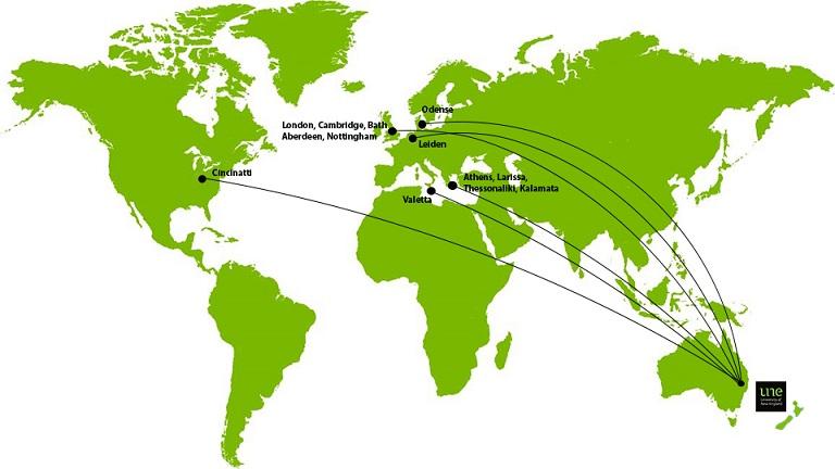 Locations of International Collaborators