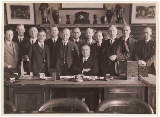 Bertram Stevens and cabinet