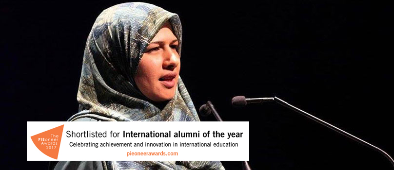 2015 International Student of the Year Dunya Alruhaimi.