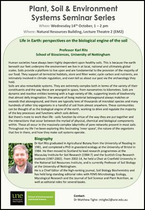 Karl Ritz seminar poster