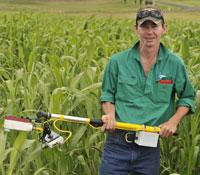 Student using crop sensors