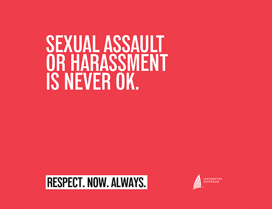 Sexual assault or harassment is never OK