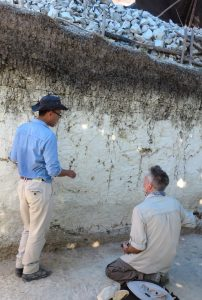 Dr Mark Moore and Halmi Insani at the fossil site, Mata Menge, photo by Yinika Perston.