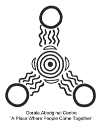 Oorala Aboriginal Centre Logo - 'A Place Where People Come Together