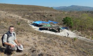 Dr Mark Moore at the Mata Menge excavations, photo by Yinika Perston