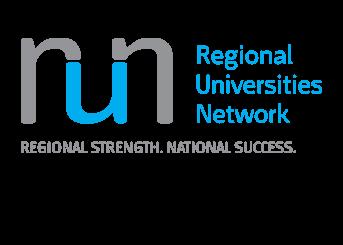 Regional Universities Network logo: Regional Strength, National Success