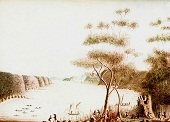 Early colonial painting of Sydney Harbour