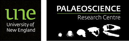 University of New England Palaeoscience Research Centre logo