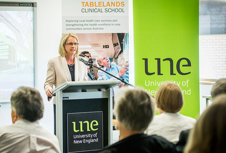 Female speaker at Tablelands Clinical School