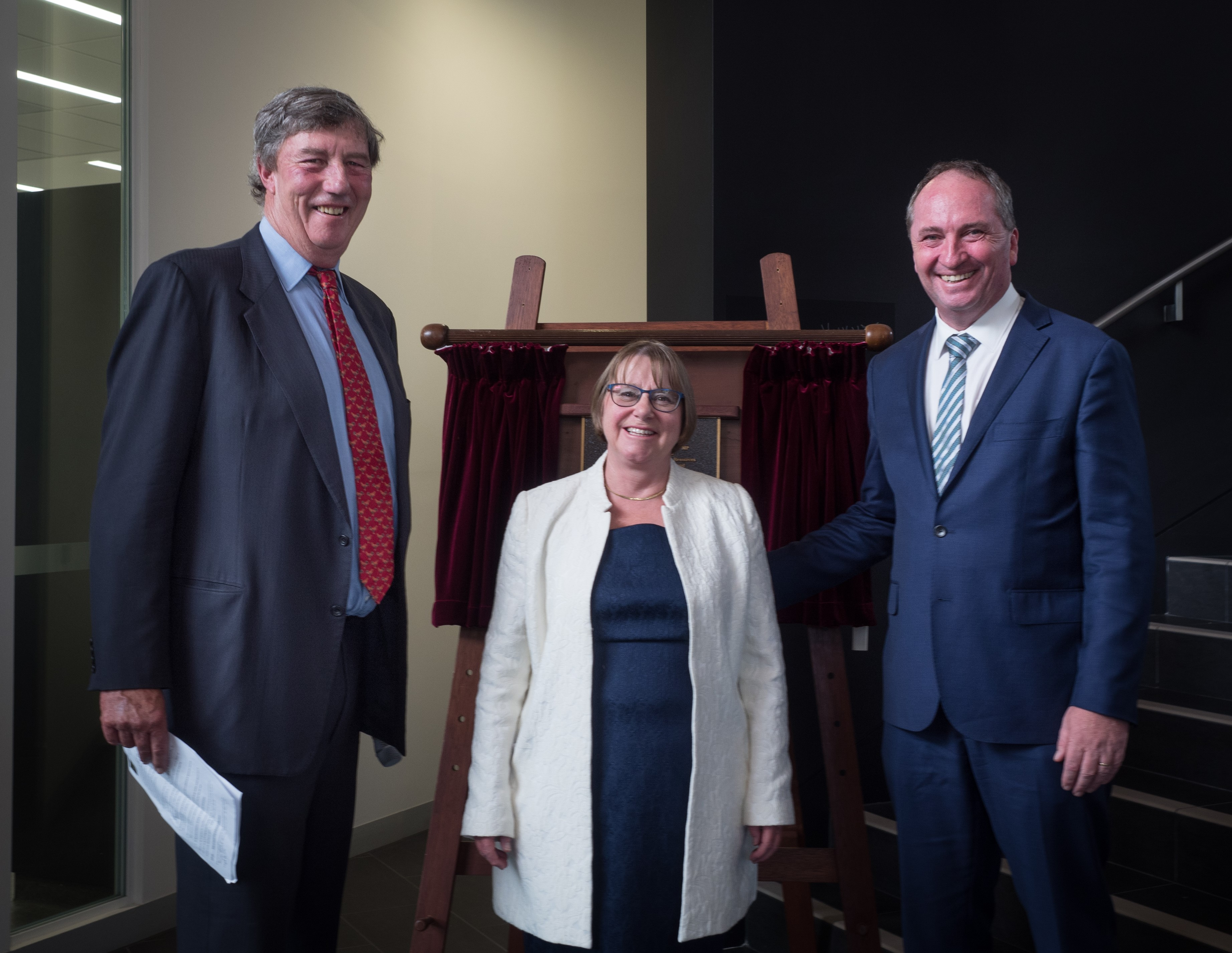 James Harris, Annabelle Duncan and Barnaby Joyce