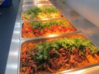 selection of stir fry and pasta dishes