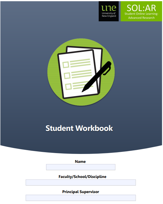 Front page of SOL:AR workbook