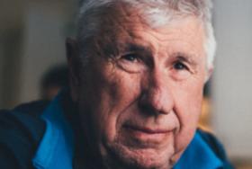 A close-up of an elderly man's face